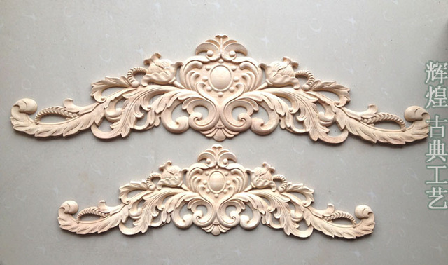 dongyang talla de madera esquinas moda applique puerta de flores virutas de madera tallados muebles de