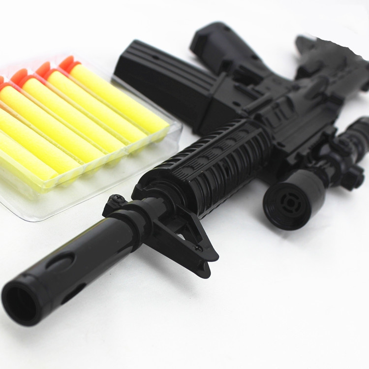 M4a1 Assault Rifle Plastic Nerf Guns Toy 6 Eva Foam Bullets