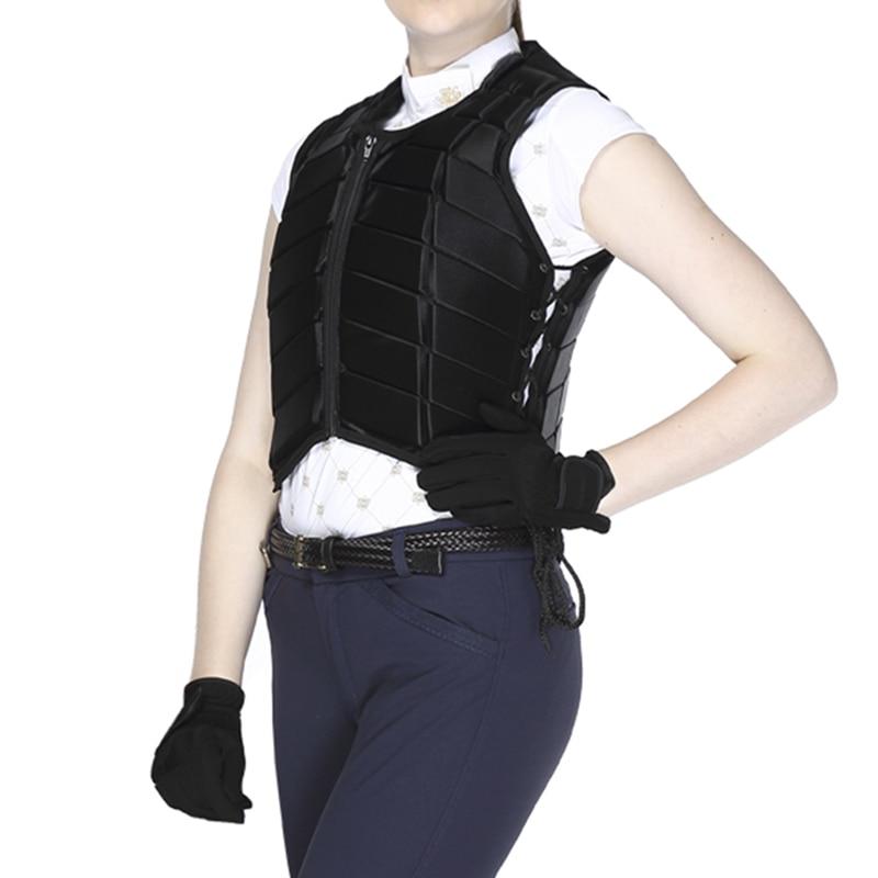 שחור לרוכב מבוגר בטיחות ציוד מירוץ מעיל אפוד מגן מגן גוף רכיבה על סוסים Equestrain Paardensport Cheval C