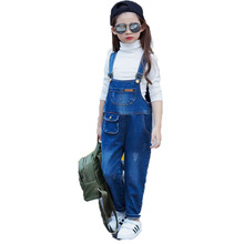 2017 New Arrival Children'S Overalls Baby Girl Jeans Jumpsuits Casual Spring Autumn Kids Clothes Girls NZK0005
