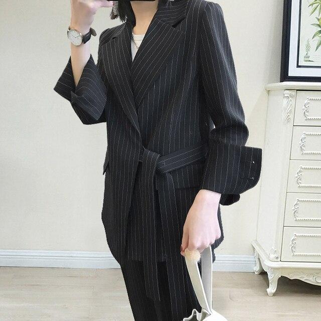 Women Professional temperament fashion warm suit elastic waist pant comfortable pant suits 10