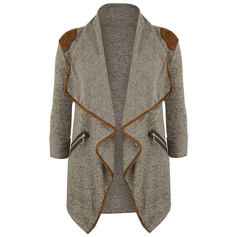 Womens Outerwear Spring  Autumn coat  Knitted Casual Long Sleeve Tops Cardigan Jacket Outwear Plus Size M-3XL 18July4