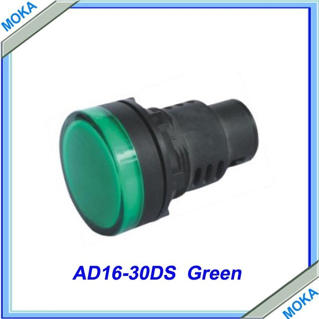 Free Shipping High Quality 30mm Green LED Indicator Lights Electrical Control Pilot Signal Lamp