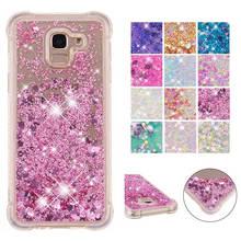 for Samsung J6 2018 case Back cover Bling Glitter Dynamic Quicksand Liquid Case Galaxy EU coque funda