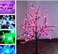 Free Shipping Holiday Light Christmas Decoration Lights Luxury Handmade Artificial led Cherry Blossom Tree Light High180cm