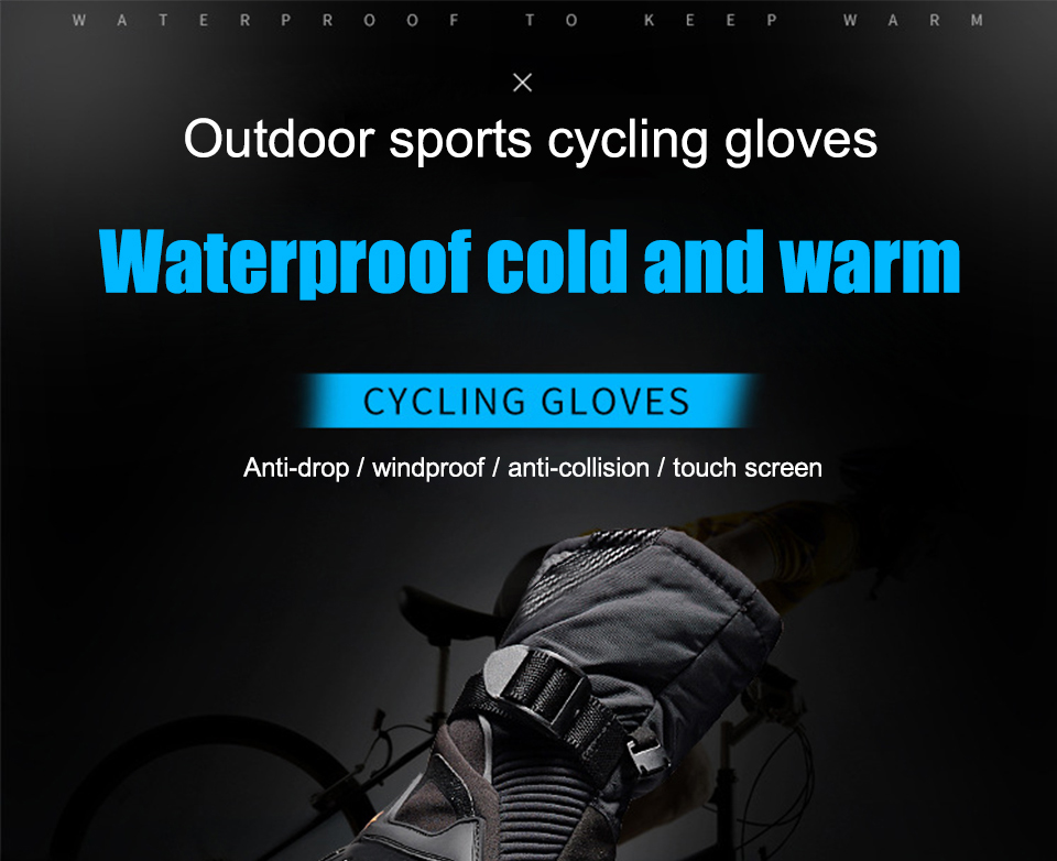 Foxcncar motorcycle gloves 100% Waterproof windproof Winter warm Guantes Moto Luvas Touch Screen Motosiklet Eldiveni Protective (1)