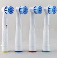 4 pz/pacco Teste Spazzolino Da Denti Elettrico Teste della Spazzola di Ricambio per Ligiene Orale B Sensibile Uso EBS 17A Per La Salute della Famiglia