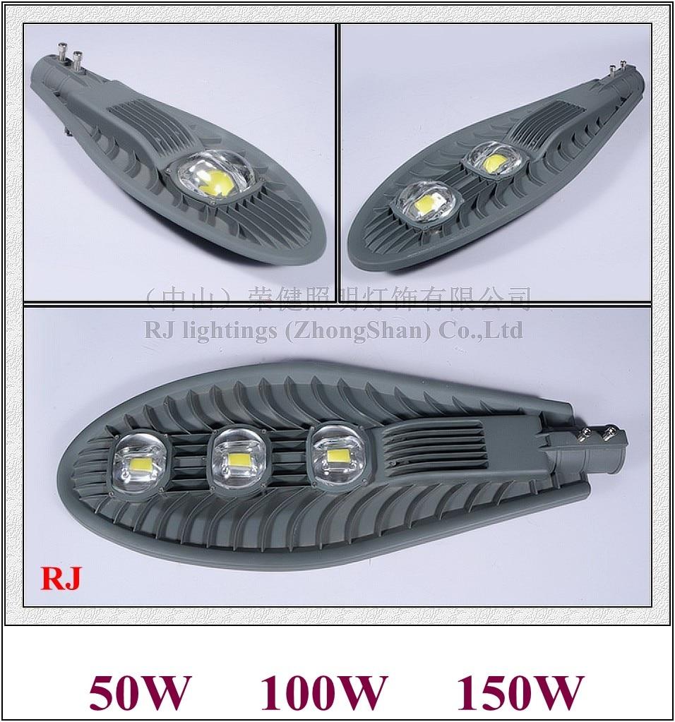 New COB LED street light lamp LED road light IP65 50W / 100W / 150W AC85-265V 50HZ/60HZ aluminum sword style II RJ-LS-B new design with cup shape reflector led flood light floodlight spot light lamp 100w 2 50w ac85 265v ip65