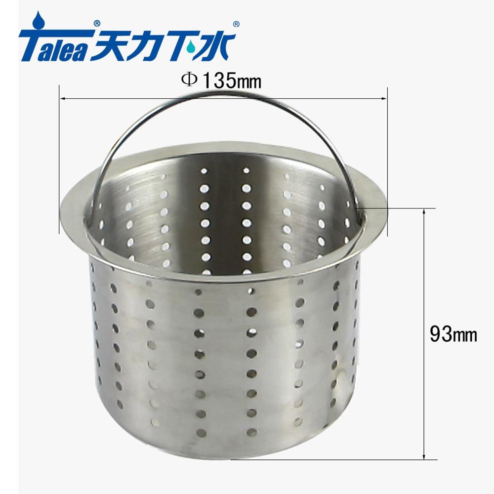 Talea New Stainless Steel Kitchen Sink Strainer Waste Plug Drain Stopper Filter Basket