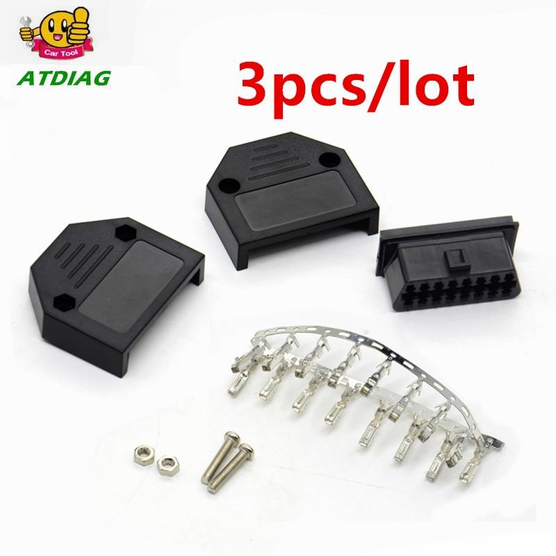Car Diagnostic OBD Male Plug OBD2 16Pin Connector OBD II Adaptor OBDII Connector