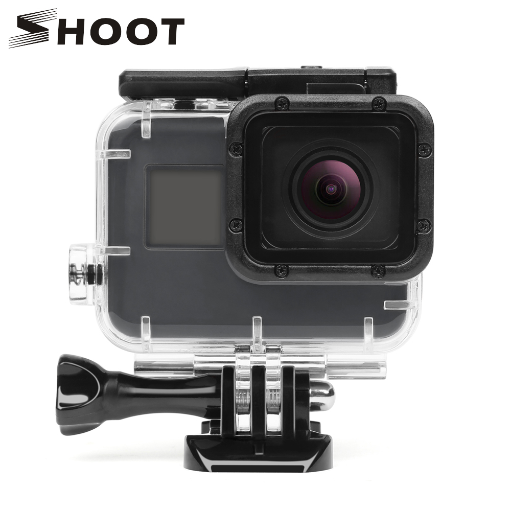 SHOOT 40M Underwater Waterproof Case for GoPro Hero 5 6 Black Action Camera Hero5 Protective Housing Case for Go Pro Accessory цена