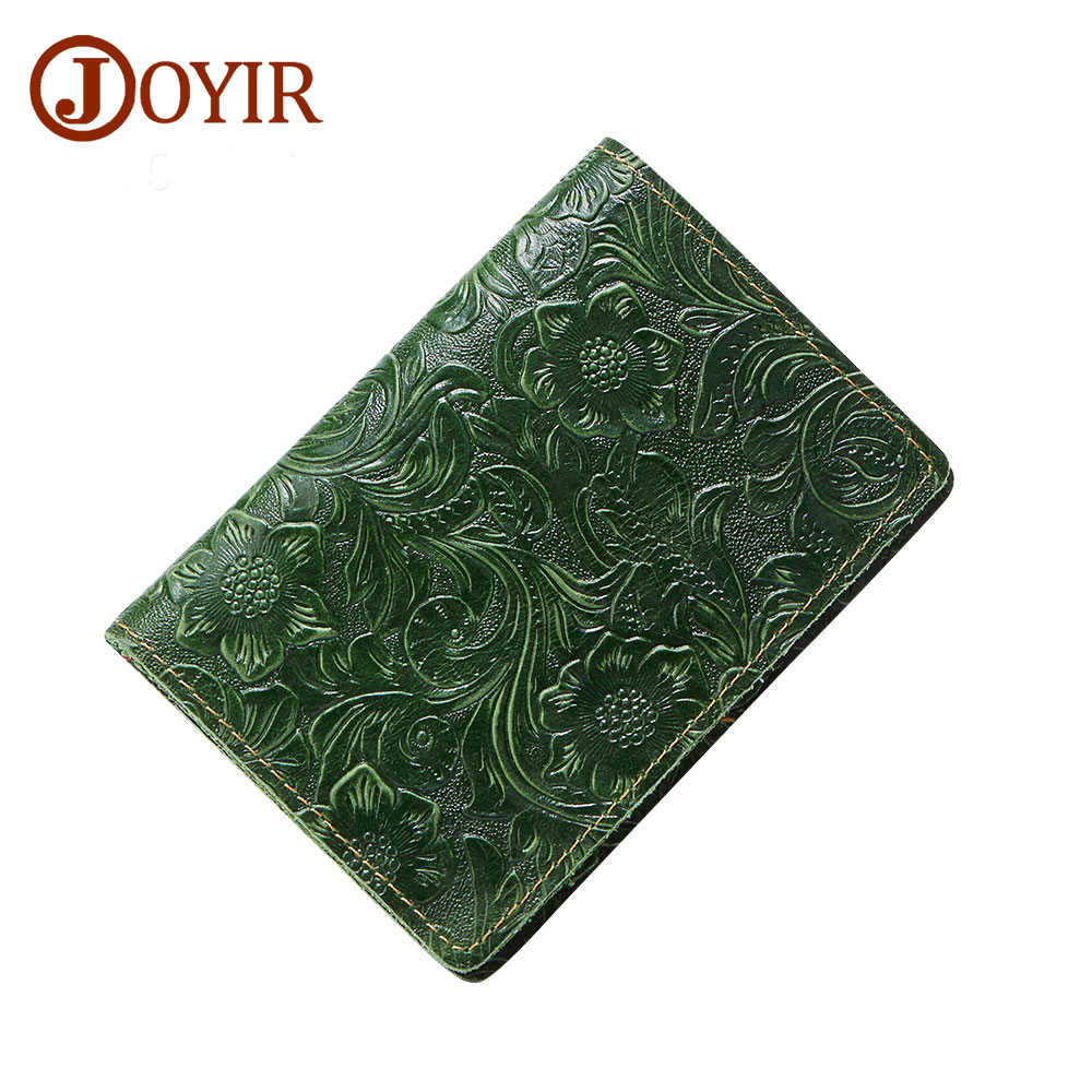 Joyir Men Passport Cover Genuine Leather Passport Holder Travel Wallet Card Wallet Credit Card Holder Porte Carte Business Male