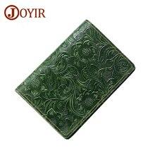 Joyir Men Passport Cover Genuine Leather Passport Holder Travel Wallet Card Wallet