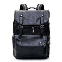 Osmond Brand Men's Leather High Quality Backpack Youth Travel Rucksack School Laptop Bags Male Business Shoulder Bag Mochila