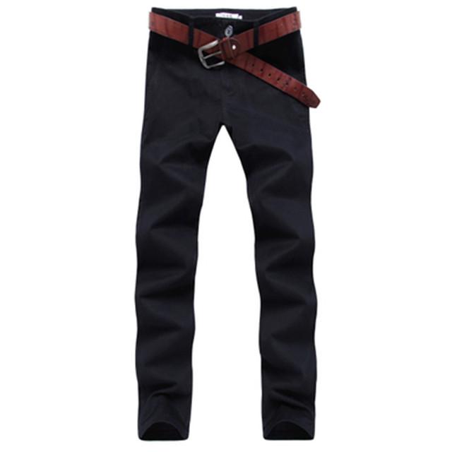 Nueva caliente de primavera y otoño 2016 de los hombres de moda casual versión Coreana del Delgado jóvenes recta pantalones de color sólido