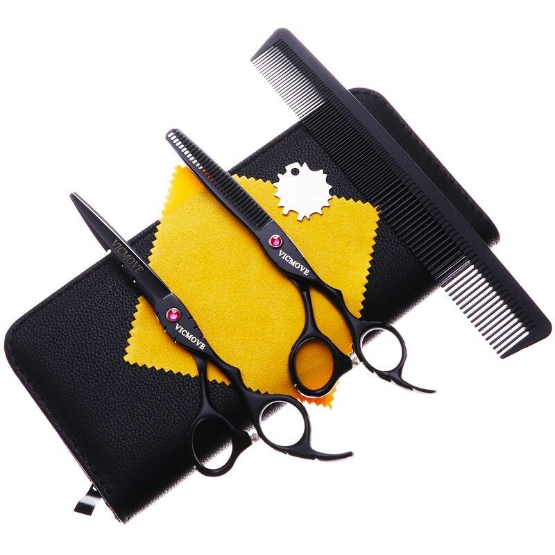 Купить с кэшбэком 6'' Japan 440C Steel Barber Hairdressing Scissors Cutting Shears Thinning Scissors Professional Human Hair Scissors