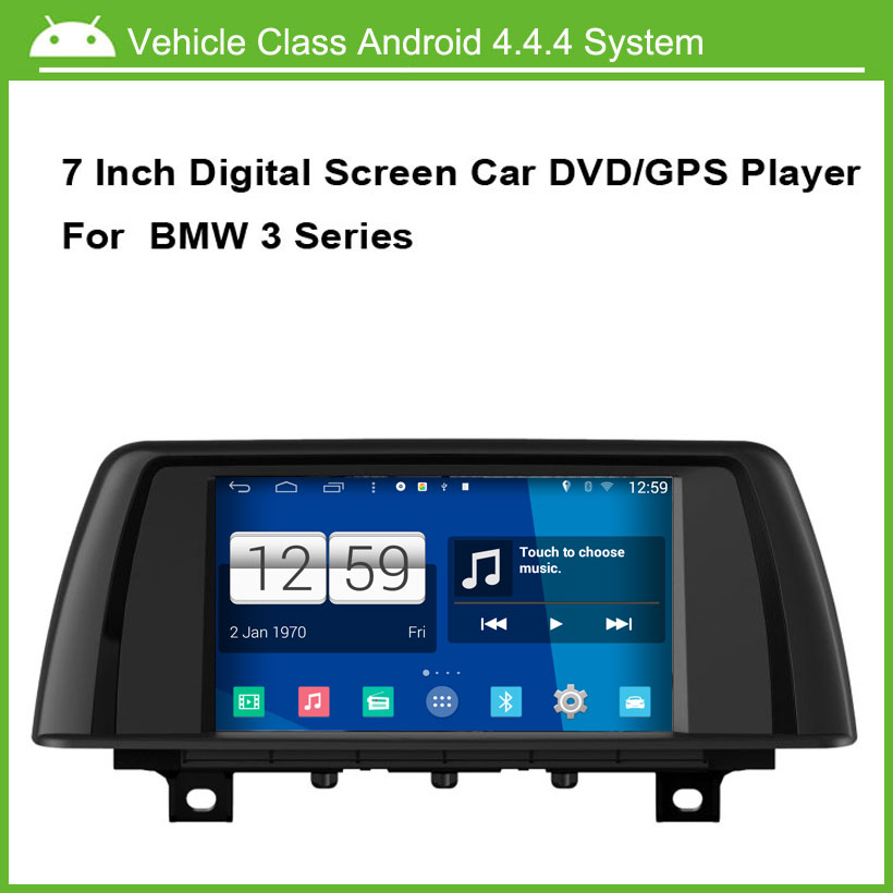 Android 4.4.4 System Car DVD Player for BMW 3 series 2014 with GPS Navigation Capacitive multi touch screen 1024*600 HD