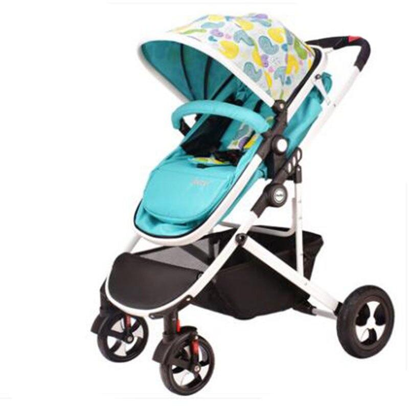 light baby stroller dual-use four wheel shock absorption baby folding trolley pinturicchio centenarian four wheel baby stroller baby newborn buggiest shock absorbers dual