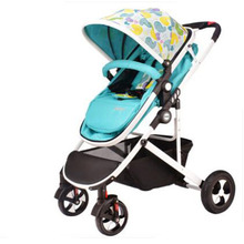 light baby stroller dual use four wheel shock absorption baby folding trolley