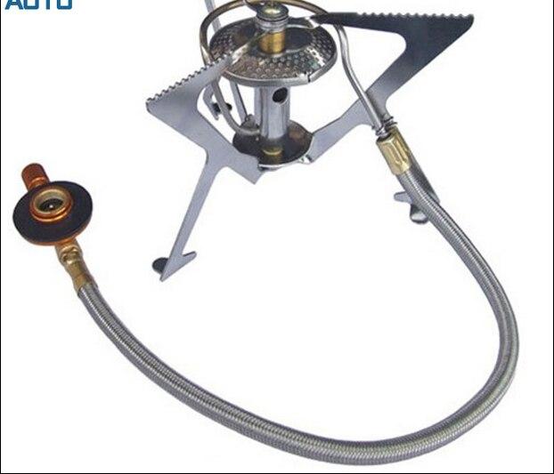Bumpmaps aotu outdoor split gas furnace burner windproof portable stoves cooker cookware