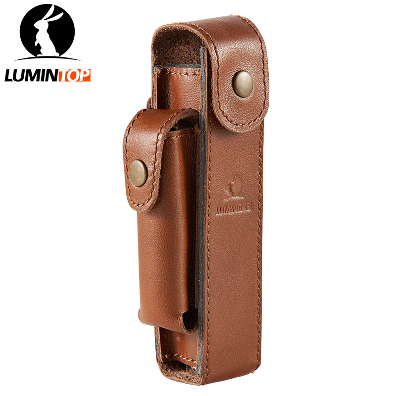 LUMINTOP Genuine leather Portable Flashlight and 18650 Battery Holster