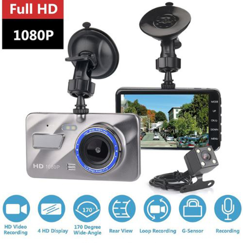 vision nocturne de la cam/éra du grand angle 1080 degr/és /à 360 degr/és de la voiture Full HD 1080P Enregistreur de conduite de Wifi