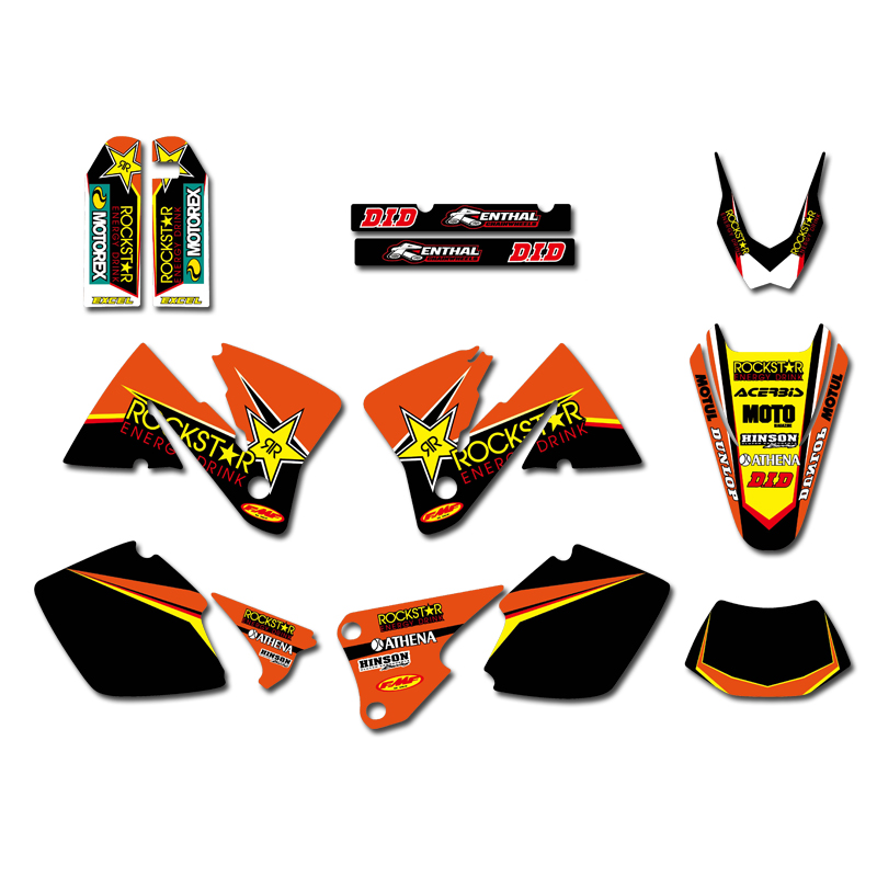 0392 Star NEW TEAM GRAPHICS WITH MATCHING BACKGROUNDS Sticker For KTM EXC 250 300 350 400