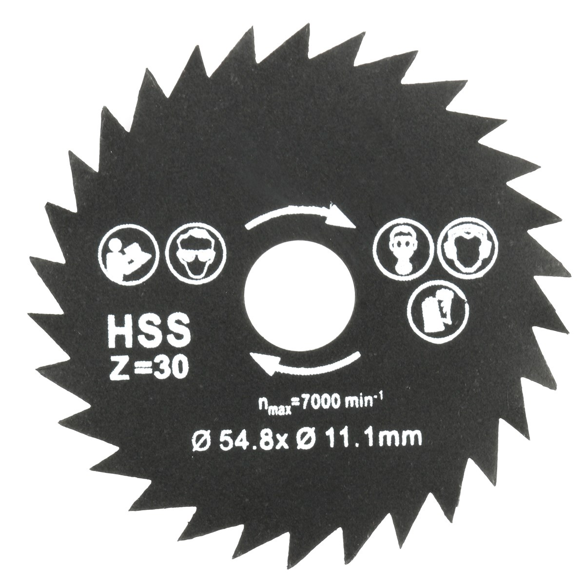 Hot Sale 1PC TCT Circular Saw Blade 30 Teeth 54.8mm Dia Fits Concrete Cement Wood Cutting Tools High Quality
