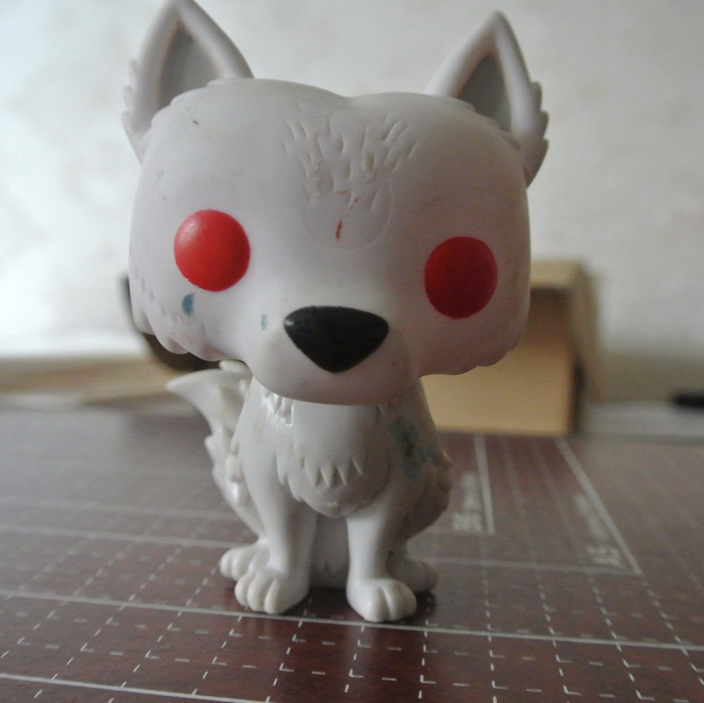 PVC White Dog Fox Old with Defect Ornaments DIY Toy Can Recolor by Your self Children Diy Toy