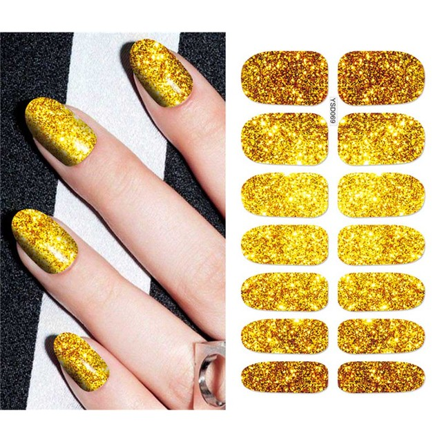 1 Pcs Luxury Golden Nail Stickers Erfly Series Water Decal Plant Pattern Manicure Sticker
