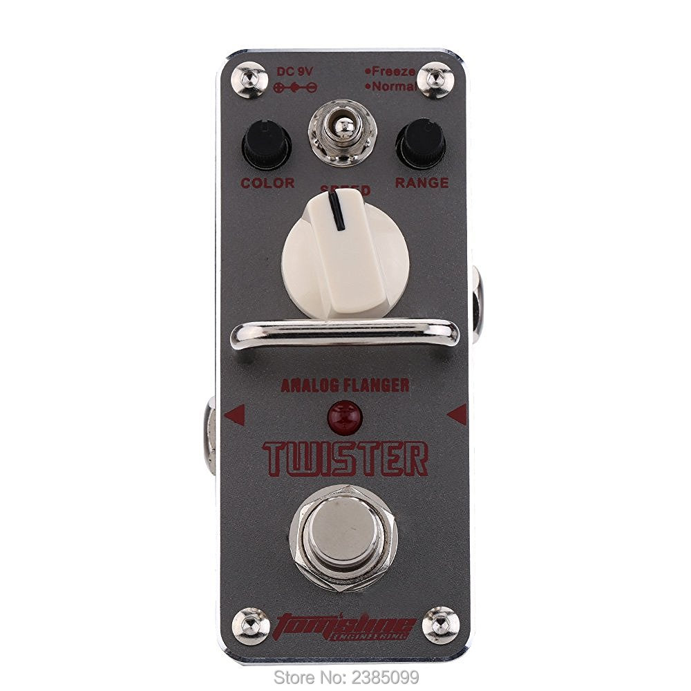 AROMA ATR-3 Twister Analog Flanger Electric Guitar Effect Pedal Mini Single Effect with True Bypass new aroma aov 3 ocean verb digital reverb electric guitar effect pedal mini single effect with true bypass
