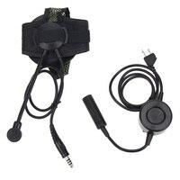 מכשיר הקשר 2 פין PTT טקטי באומן עלית II אוזניות עם מיקרופון U94 סגנון עבור מידלנד מכשיר הקשר G6 G7 GXT550 GXT650 LXT80 LXT112 LXT435 (3)