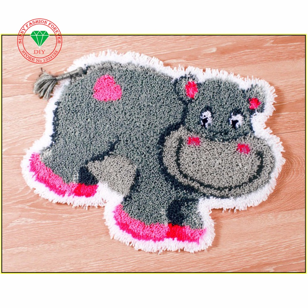 Latch hook rug kits cute cow rugs carpets embroidery felt for Cute rugs for cheap