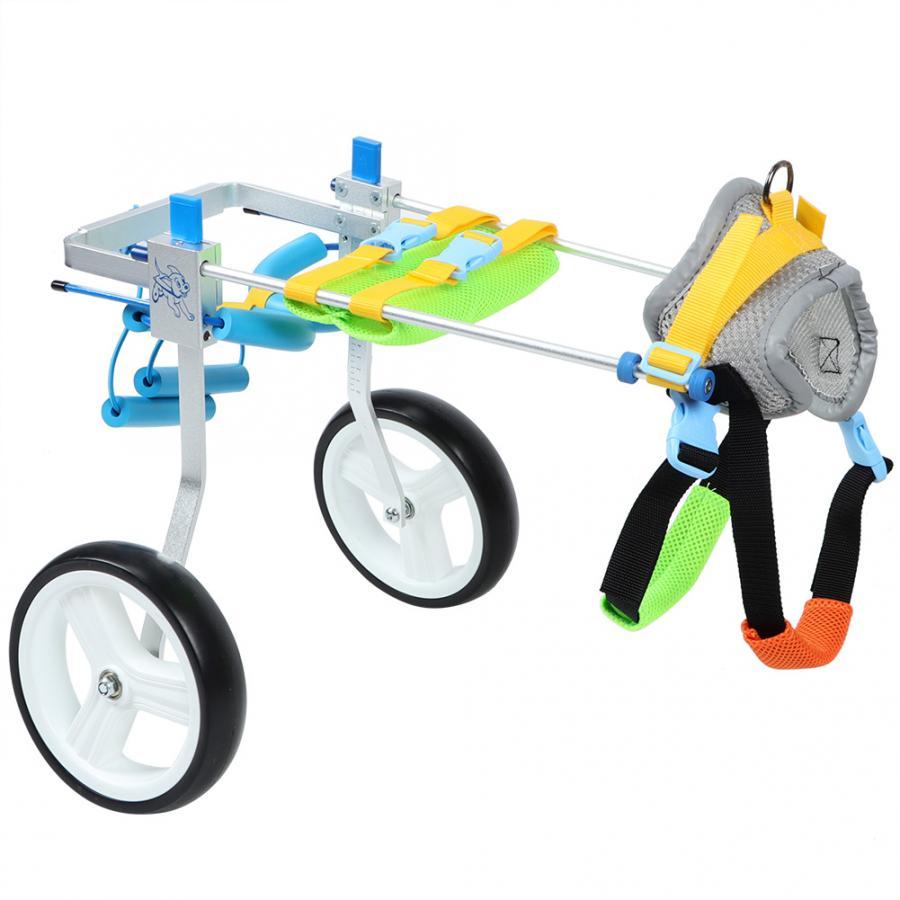 Aluminum Alloy Pet font b Wheelchair b font Adjustable Rehabilitation Training Scooter for font b Disabled
