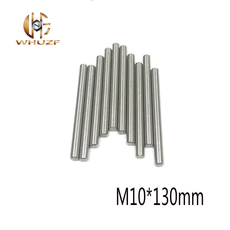 4pcs Dowel Pins  304 stainless Steel M10*130mm  GB119 Threaded Cylindrical Pin For Mold Machine Tools