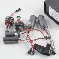 Fsylx 2セット40ワットh8 ledマーカーエンジェル·アイズ電球用bmw e90 e92 e93 x5 6000 kエンジェルアイヘッドライト車ラン