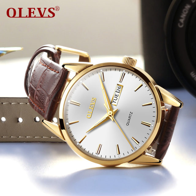OLEVS Mens watches top brand luxury Simple day date Wrist watches waterproof