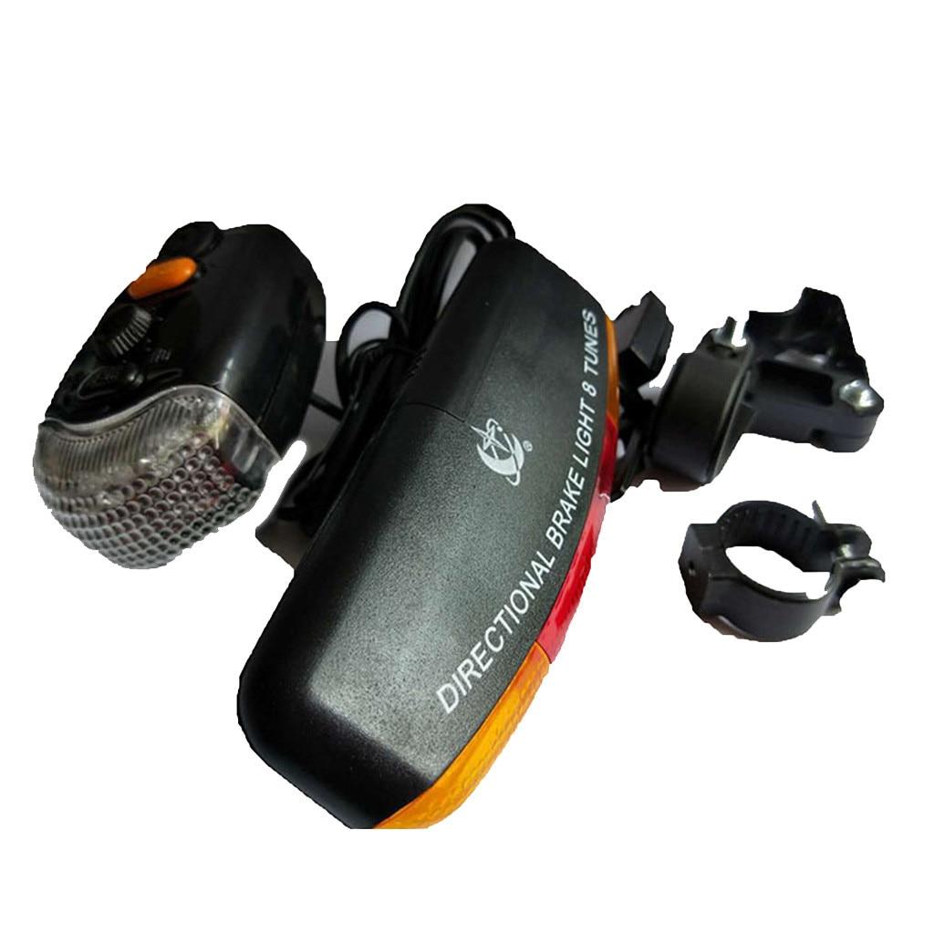 7 LED vélo vélo clignotant directionnel frein lumière lampe 8 son corne fixe montage ensemble vélo lumière sécurité dans Darkness4.26