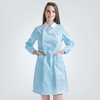 Medical Nursing Scrub Dresses Nurses Uniform Dress Athletic Slim Fit Premium Fabric Everyday Scrubs Beautician SPA Workwear