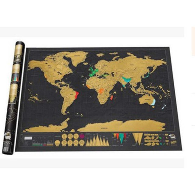 Travel scratch off map personalized world map poster sticker travel scratch off map personalized world map poster sticker traveler vacation log national geographic map of gumiabroncs Image collections