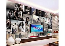 3d photo wallpaper custom TV murals Fitness beauty wall background living room