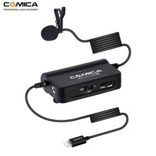 Comica CVM-V05 MI Lavalier Lapel Microphone for iPhone 7 8 PLUS X XS XR Clip on Interview mic Lighting Interface iPhones