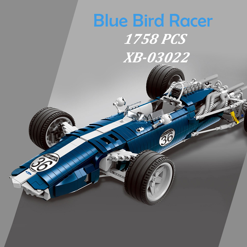 XINGBAO 03022 Genuine Building Blocks 1758PCS The Blue Racing Car Set MOC Brick Kids Educational Toys Brinquedos De Montar