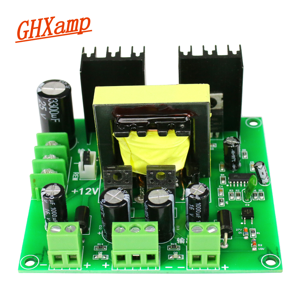 GHXAMP 200W Amplifier Mixer Audio Effector Power Supply Output Three Independent Voltage Dual 9V 19V 9V