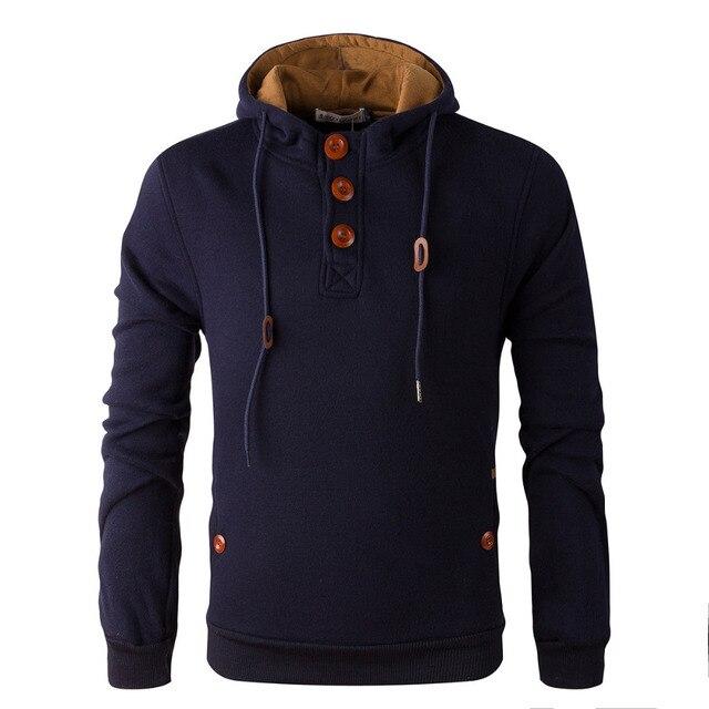 2017 НОВЫЙ бренд толстовки мужчин руно мужская Мода теплые Толстовки Кофты, костюм С Капюшоном куртки 5 цвета
