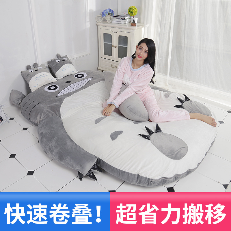 Totoro lazy sofa bed Single cartoon tatami mats Lovely creative small bedroom sofa bed chair lazy sofa bean bag with pedal creative single sofa bedroom living room lazy stool tatami