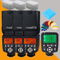 Yongnuo yn560 iii yn-560iii yn560iii speedlite yn560-iii flash x3 + yn-560tx yn560tx controlador de flash speedlight para canon nikon