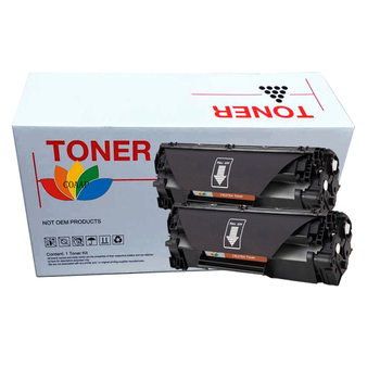 2 Black toner cartridge CE278A CRG128 328 326 526 726 for Compatible HP1566 1606 1560 1536 printer image
