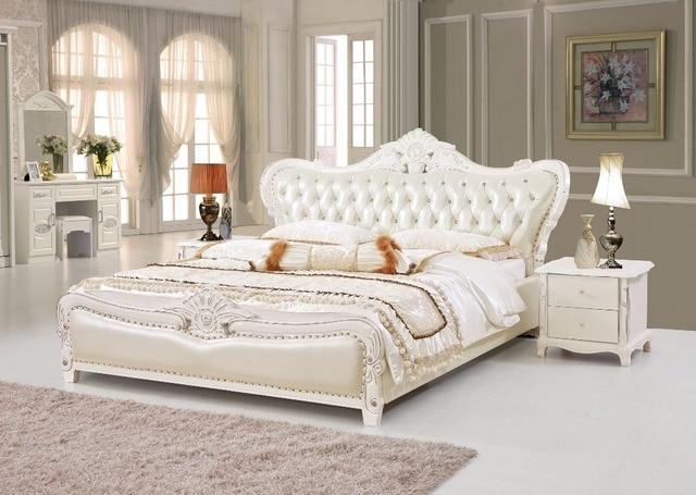 Il cuoio del progettista moderno morbido letto grande - Mobili stile americano ...