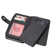 Multifunction For Samsung Galaxy Note 8 PU Leather Wristlet Cash Clutch Wallet Card Slot 2 in 1 Phone Case Back Cover
